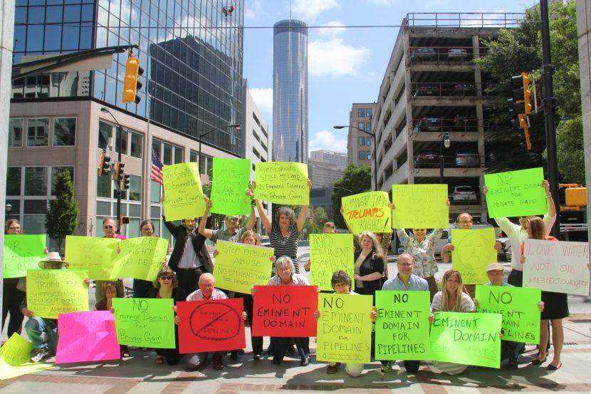 trump-protest-atlanta-eminent-domain